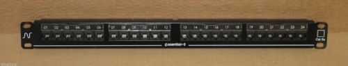 Nexans Essential 24-Port 1U Rack Mount Network Patch Panel RJ45 Black